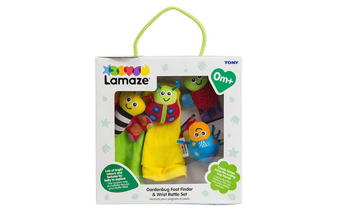 Lamaze Gardenbug Footfinder And Wrist Rattle Set