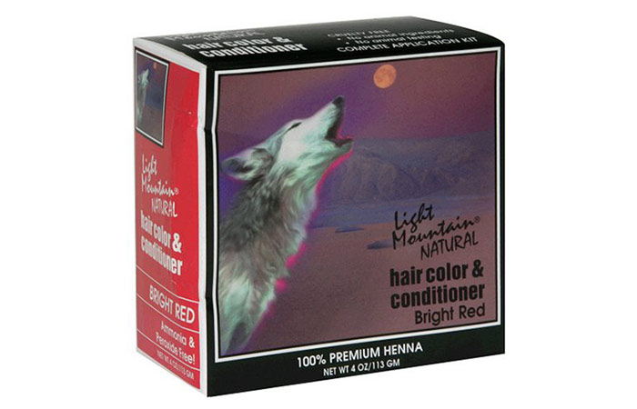 Light Mountain Natural Hair Color & Conditioner, Bright Red
