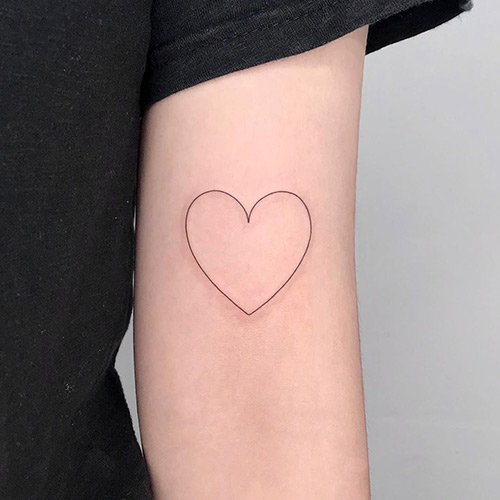 Love Tattoo On The Upper Arm