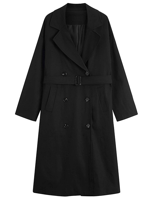 MOCRIS Double-Breasted Mid-Length Trench Coat