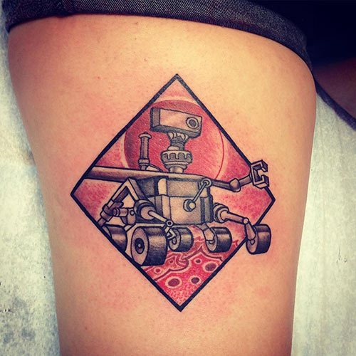 Mars Rover Tattoo