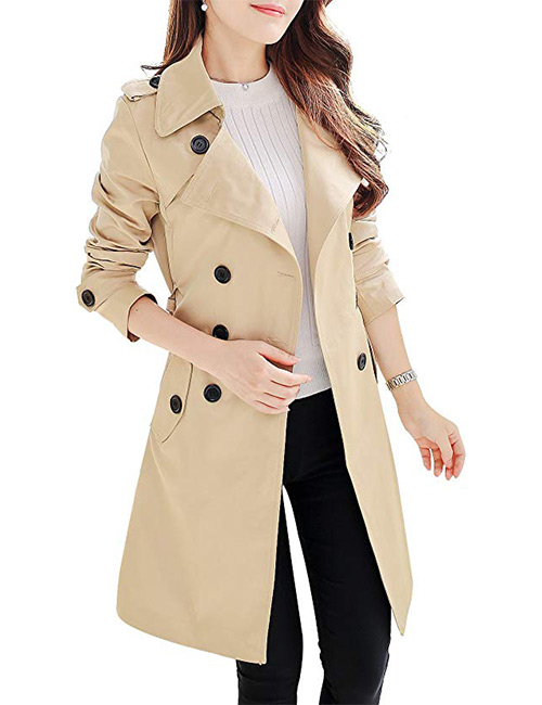 NANJUN Double-Breasted Trench Coat