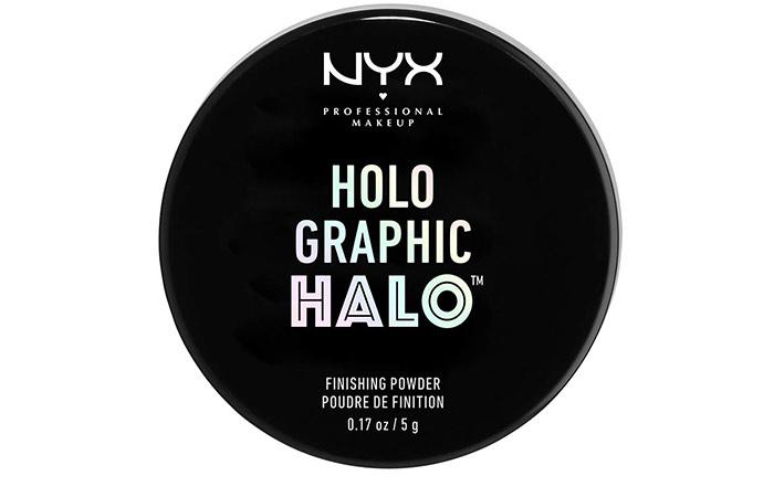 NYX Professional Makeup holographic halo finishing powder
