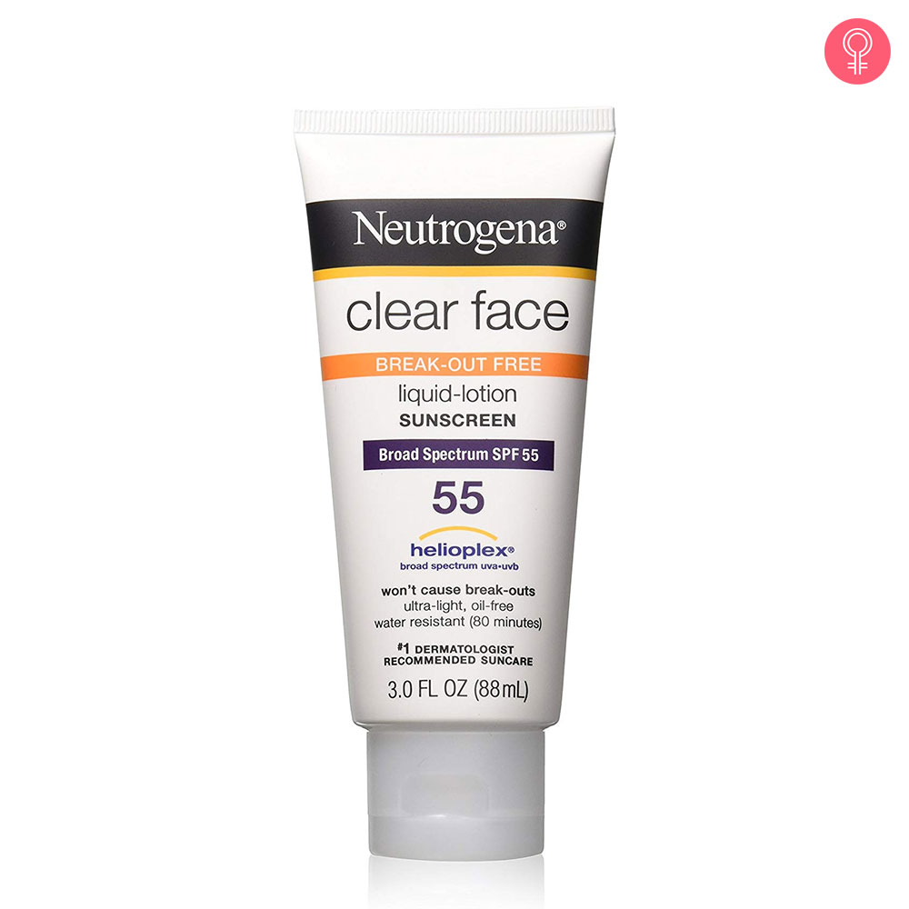 Neutrogena Clear Face Break-Out Free Liquid-Lotion Sunscreen SPF 55