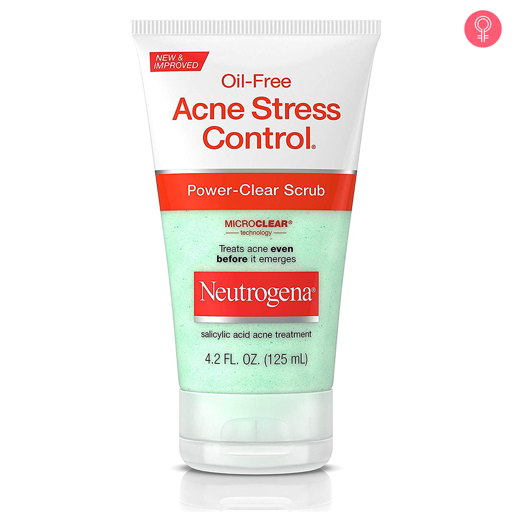 Neutrogena Oil Free Acne Stress Control Power Clear Scrub