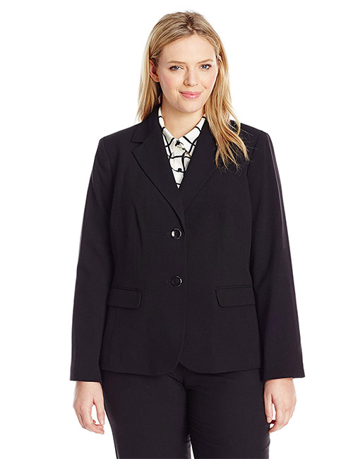 Nine West Women's Plus Size 2 Button Stretch Suit Jacket