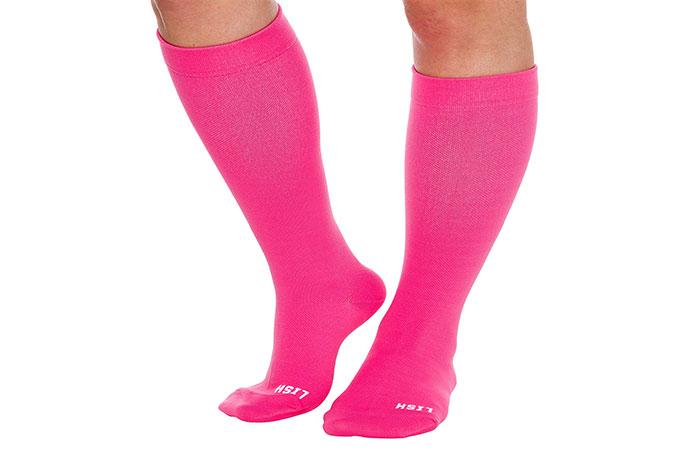 Plain Jane Wide Calf Compression Socks