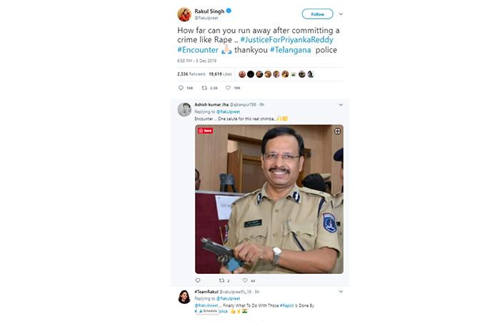 Rakul Sing who has worked in both the industries tweeted this