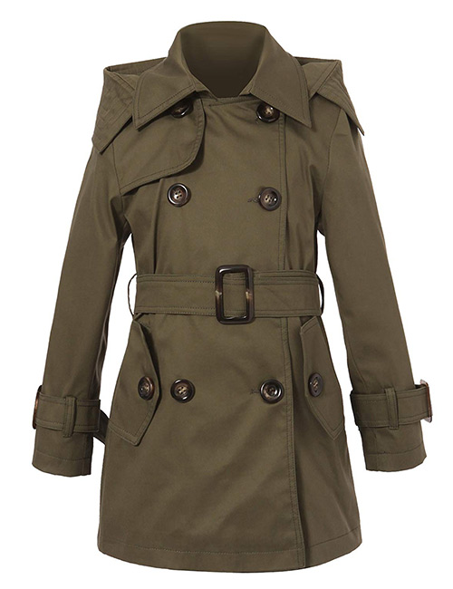 Richie House Classic Hooded Trench Coat