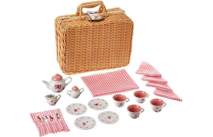 Schylling Butterfly Tea Set Basket