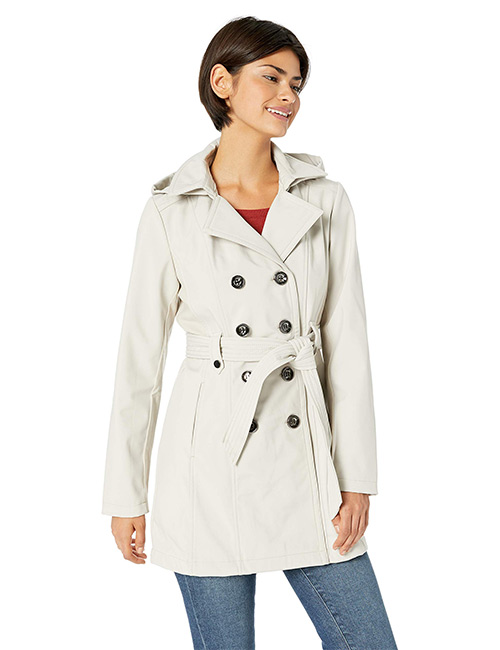 Sebby Collection Soft Shell Trench Coat