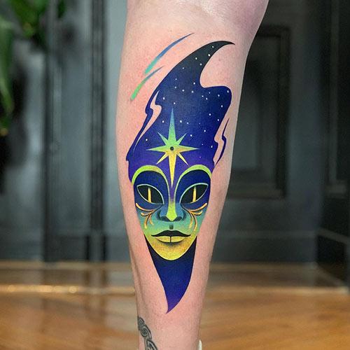 Space Alien Tattoo,