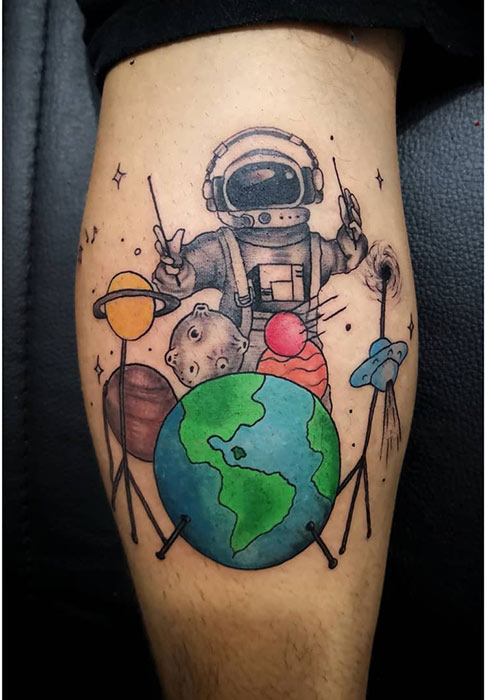 Space Music Tattoo