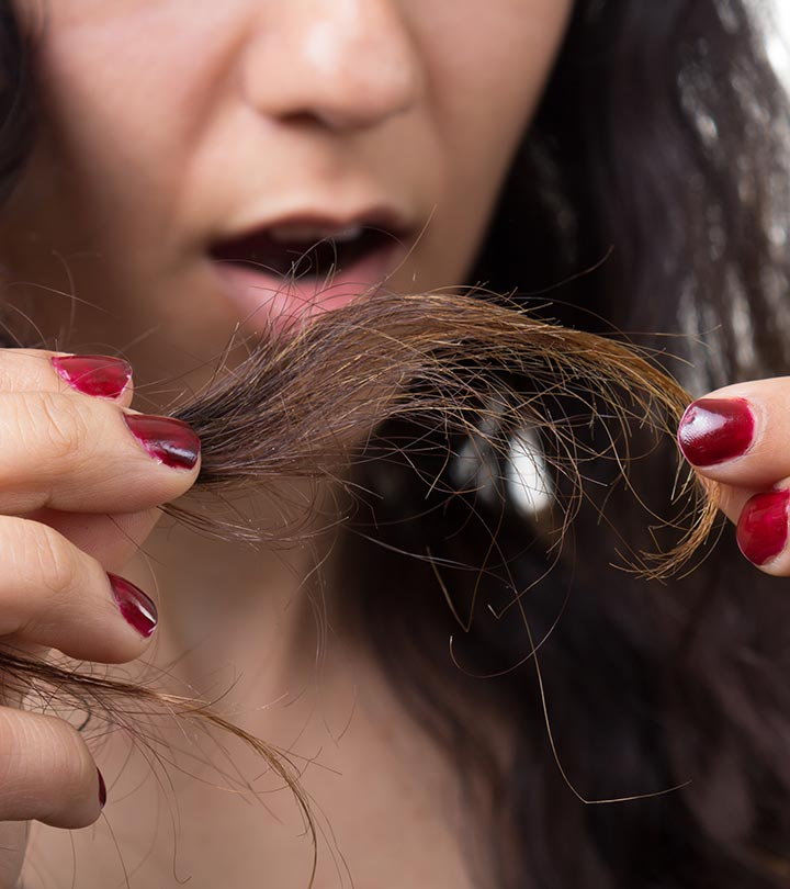 Split Ends Causes and Home Remedies in Hindi