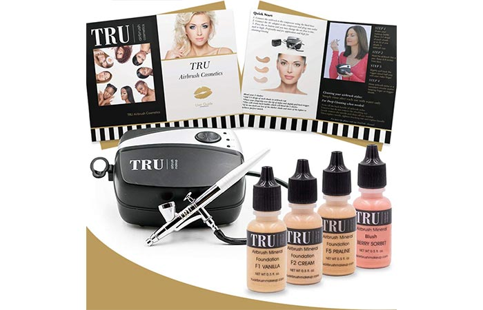 TRU Airbrush Makeup Kit 6-Piece Makeup Set