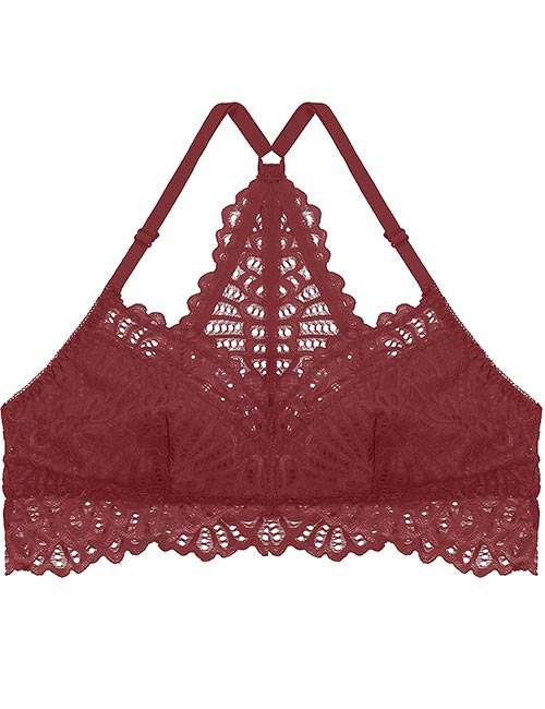 Ted Noah Plus Size Floral Lace Padded Bralette