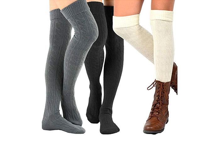 TeeHee Womens Fashion Over the Knee High Socks