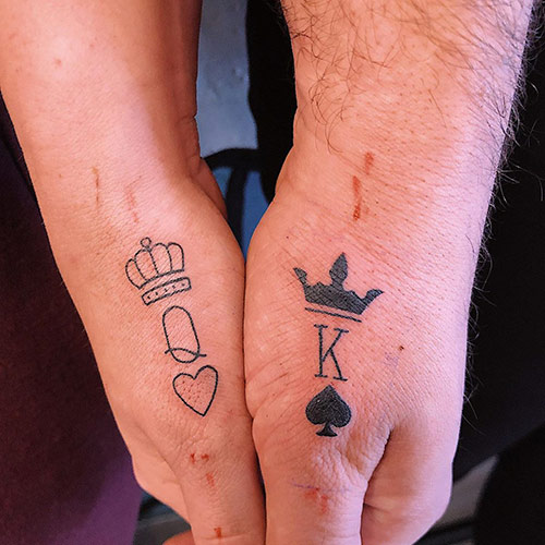 ThumbKing And Queen Tattoos