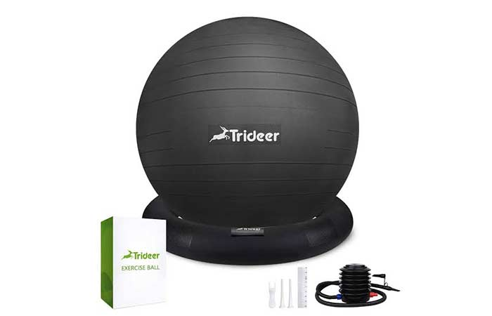 Trideer Exercise Ball (45-85cm) Extra Thick Yoga Ball Chair