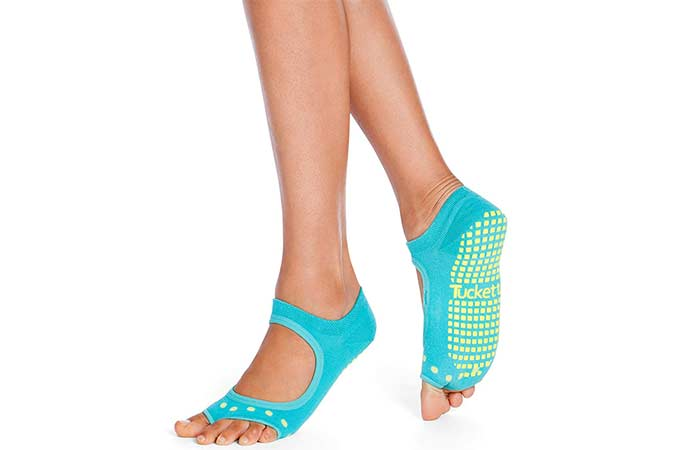 Tucketts Toeless Yoga Socks For Women