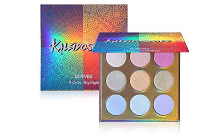 UCANBE Kaleidoscope Holographic Highlighter Makeup Palette Kit