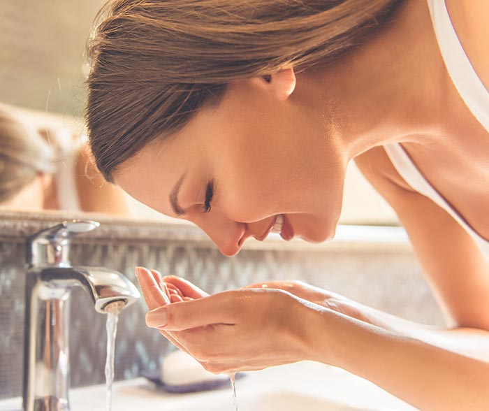 Wash your face at least two to three times a day
