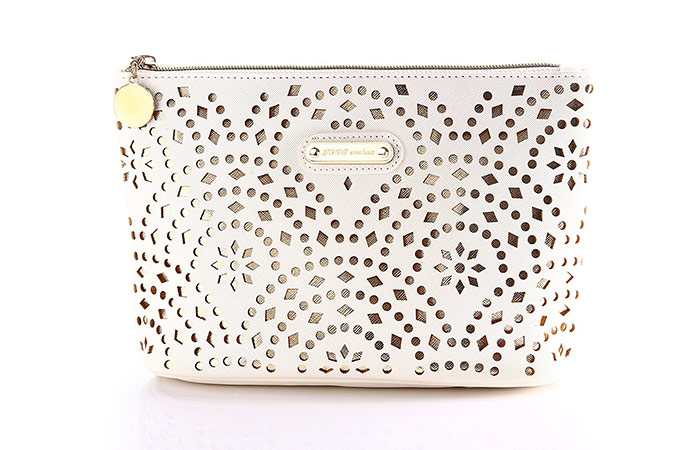 Wuhua Gold Pattern Cosmetic Bag With Zipper
