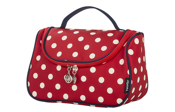 Yeiotsy Stylish Polka Dots Cosmetic Bag For Women