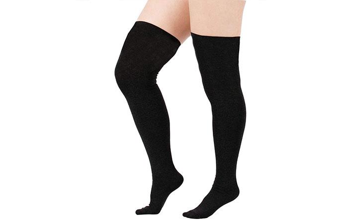 Zando Women Plus Size Over The Knee Tube Socks