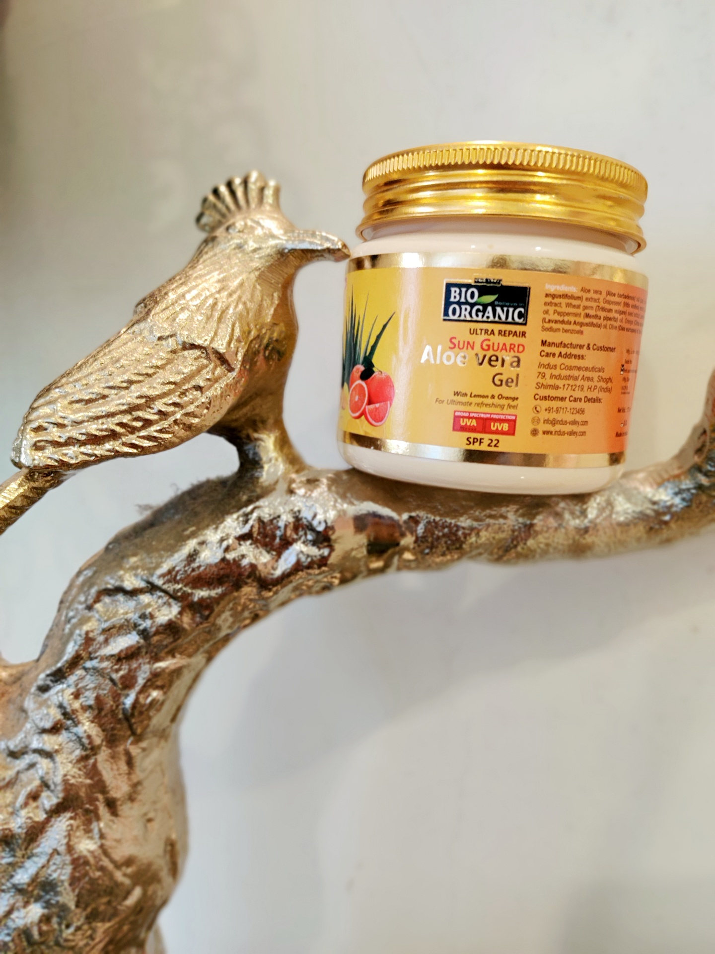 Indus Valley Bio Organic Sun Guard Aloe Vera Gel With Lemon & Orange-SPF 22-Sun Protection with Aloe Vera-By sonam_jaggi