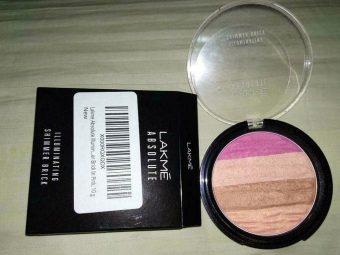 Lakme Absolute Illuminating Blush Shimmer Brick -Best blush shimmer brick-By marlyn.mansion