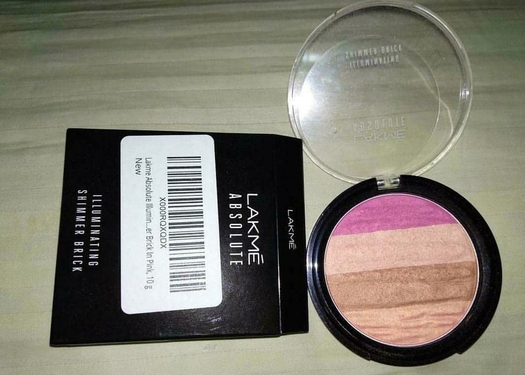 Lakme Absolute Illuminating Blush Shimmer Brick -Best blush shimmer brick-By marlyn.mansion