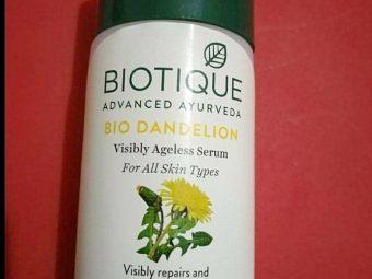 Biotique Bio Dandelion Ageless Lightening Serum -Amazing results-By marlyn.mansion
