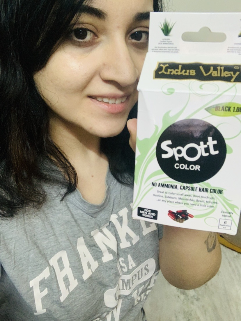 Indus Valley Spott Black Hair Color Capsule-Very easy and fast method to colour-By tanvi_miglani