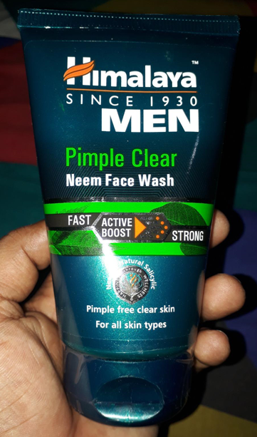 Himalaya Men Pimple Clear Neem Face Wash-BEst for men face wash-By umadevi