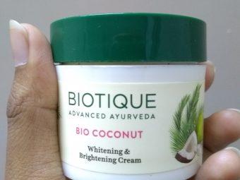 Biotique Bio Coconut Whitening & Brightening Cream -Not suited for oily skin-By srijita95