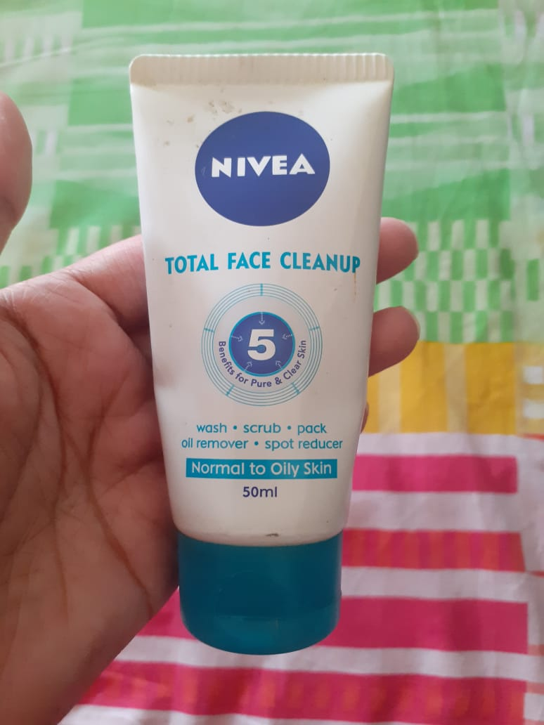 Nivea Total Face Cleanup Face Wash -Face wash that works as a face pack too-By pixie