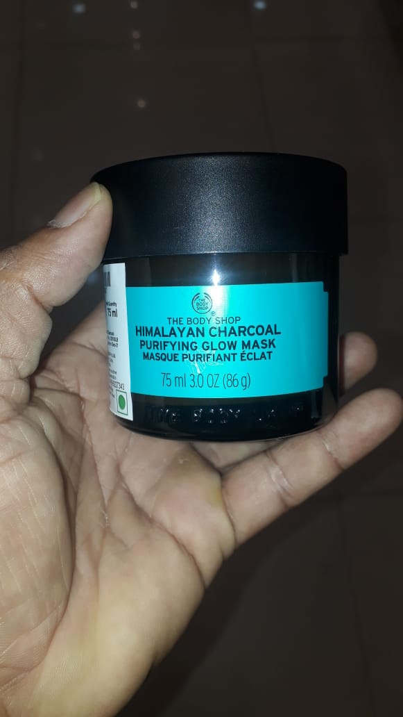 The Body Shop Himalayan Charcoal Purifying Glow Mask-Glowing mask-By manju_-1