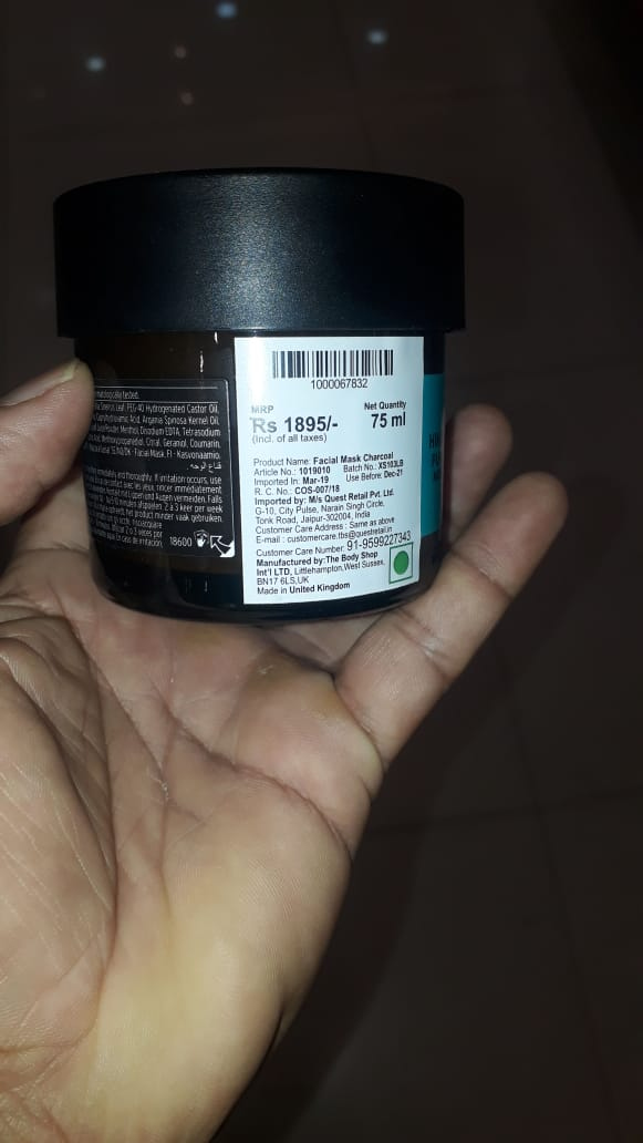 The Body Shop Himalayan Charcoal Purifying Glow Mask-Glowing mask-By manju_-2