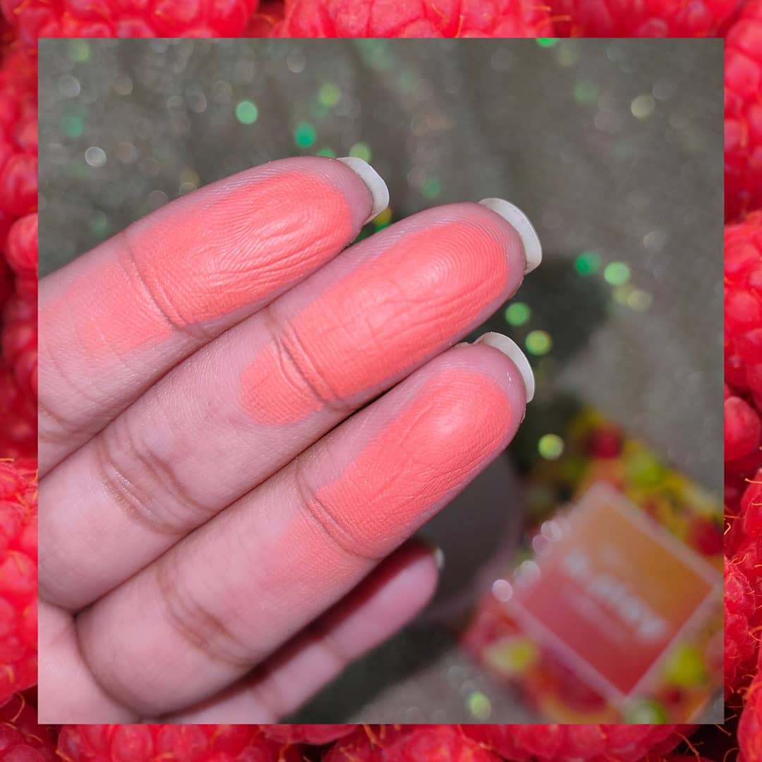 MyGlamm K.PLAY FLAVOURED BLUSH – FROZEN RASPBERRY-The perfect peach Blush-By meghagupta-2