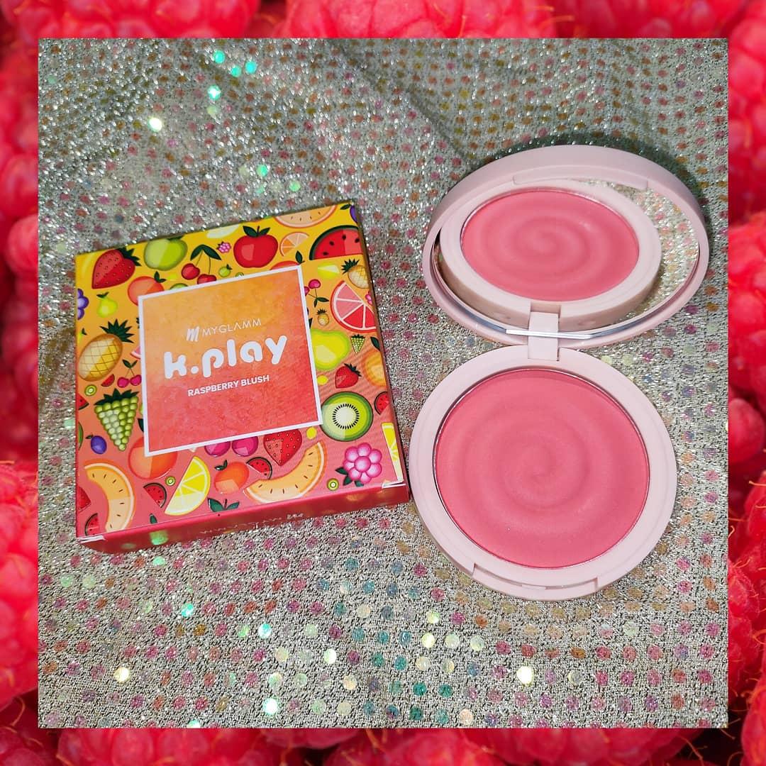 MyGlamm K.PLAY FLAVOURED BLUSH – FROZEN RASPBERRY-The perfect peach Blush-By meghagupta-1
