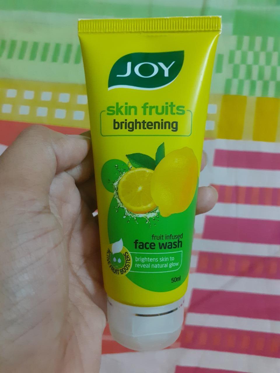 Joy Skin Fruits Fairness Face Wash Lemon-Creamy face wash-By pixie
