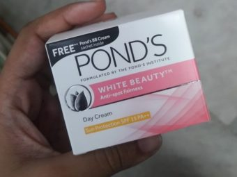 Ponds White Beauty Anti Spot Fairness SPF 15 Day Cream pic 2-Okay product-By Nasreen
