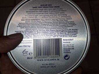 Nivea Men Dark Spot Reduction Cream pic 2-Removes the dark spots-By manju_