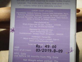 Yardley London English Lavender Luxury Soap pic 1-Smells great-By paru0105