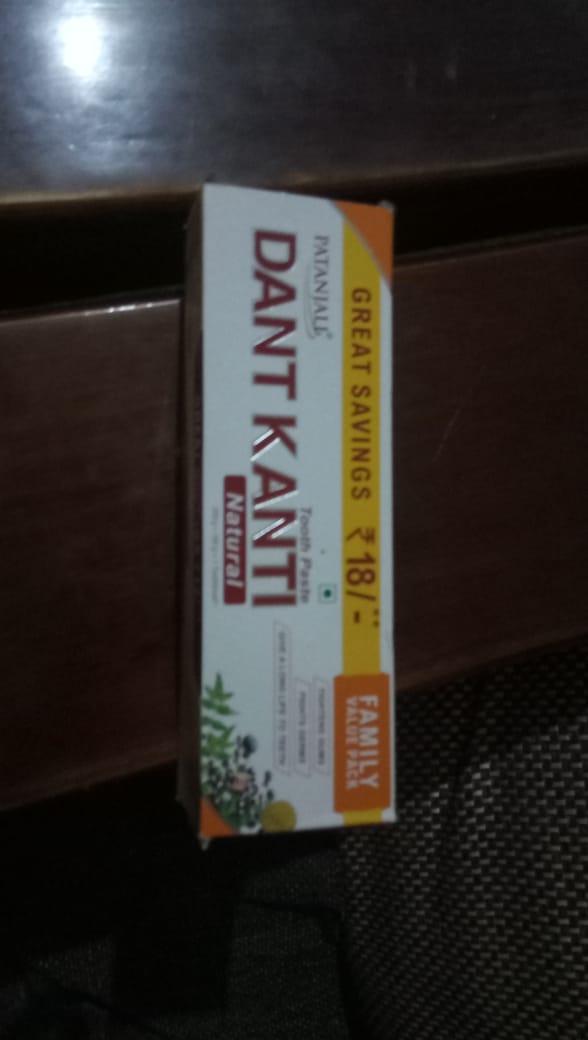 Patanjali Dant Kanti Dental Cream (Regular) 100gm-Refreshing herbal toothpaste-By ashwini_bhagat