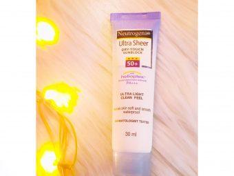 Neutrogena Ultra Sheer Dry Touch Sunscreen Broad Spectrum SPF 55 -Neutrogena Sunscreen review-By sonam011