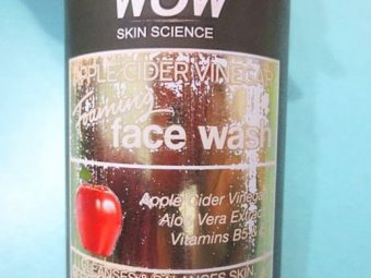 WOW Skin Science Apple Cider Vinegar Foaming Face Wash -All Natural-By priya_dey91