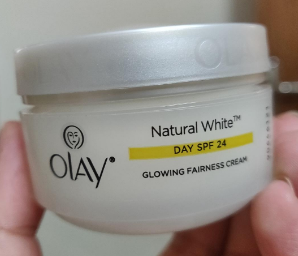 Olay Natural White Day SPF 24 / PA ++ Glowing Fairness Cream-NATURAL WHITE DAY CREAM-By umadevi