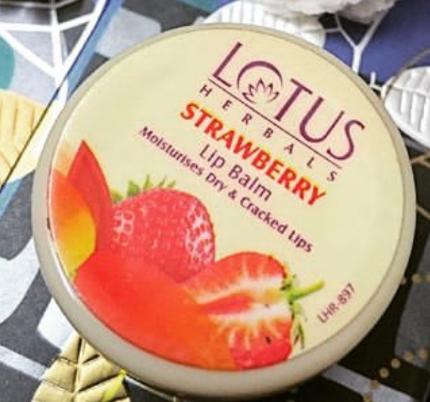 Lotus Herbals Strawberry Lip Balm-Herbal strawberry lip balm-By lilgirl27
